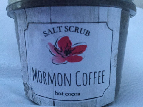Mormon Coffee Salt Scrub