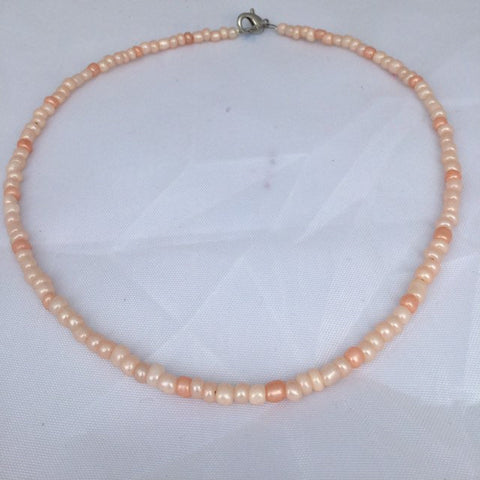 Peach and orange beaded choker