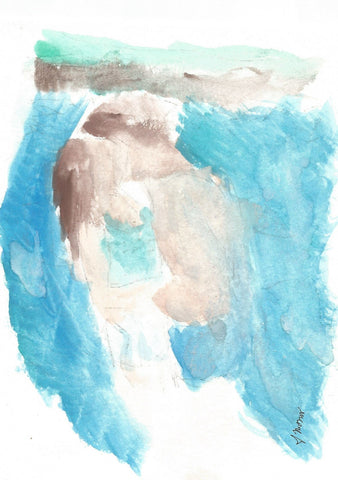 Undertow Watercolor Print