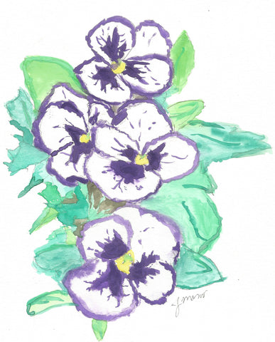 Purple Pansy Power