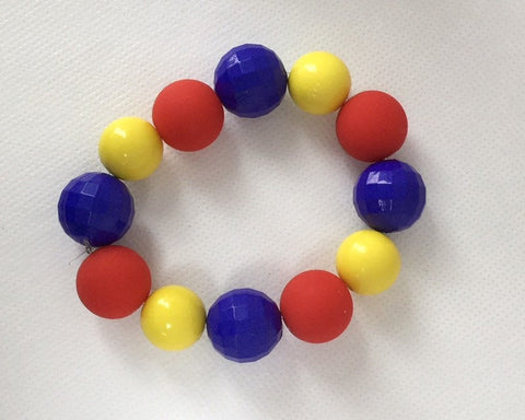 Primary Color Chunky Bead Bracelet