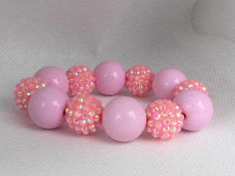 Double Pink Bubblegum Bead Bracelet