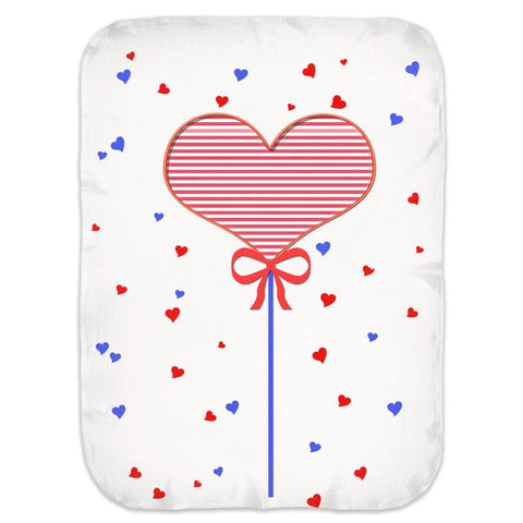 Heart Balloon Swaddle Blankets