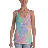 Climate Change is Real Women's Racerback Tank