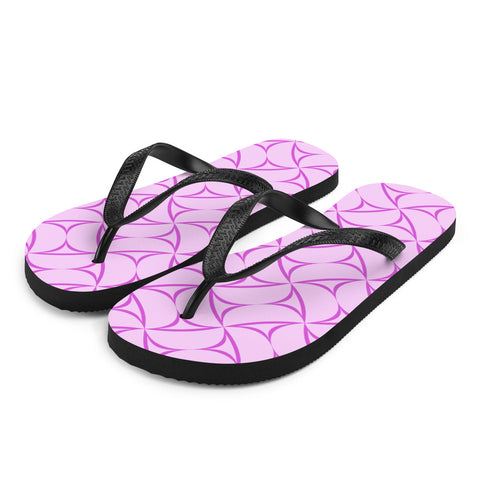Pink and Purple Flip-Flops