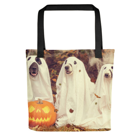 Trick or Treat Puppies tote bag