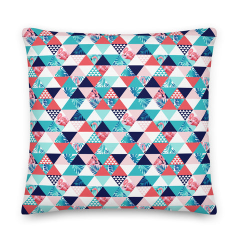 Flamingo Triangle Premium Pillow