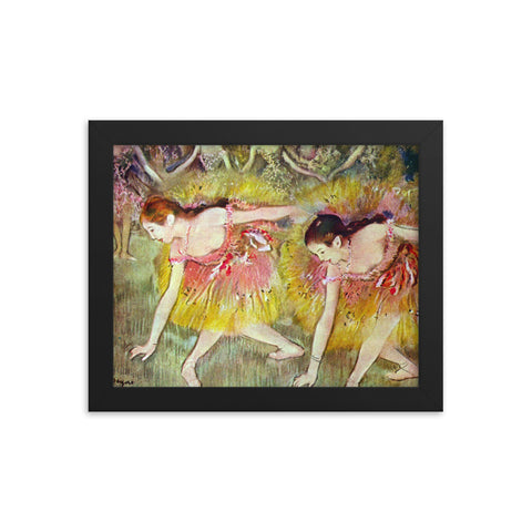 Framed dancers poster