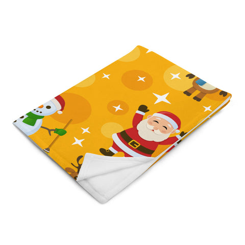 Bright Santa Throw Blanket