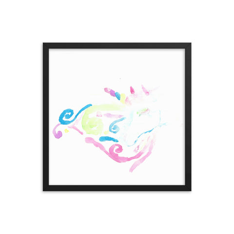 Unicorn Dreams Framed poster
