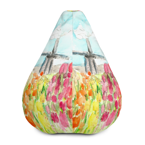 Holland in Spring All-Over Print Bean Bag Chair w/ filling