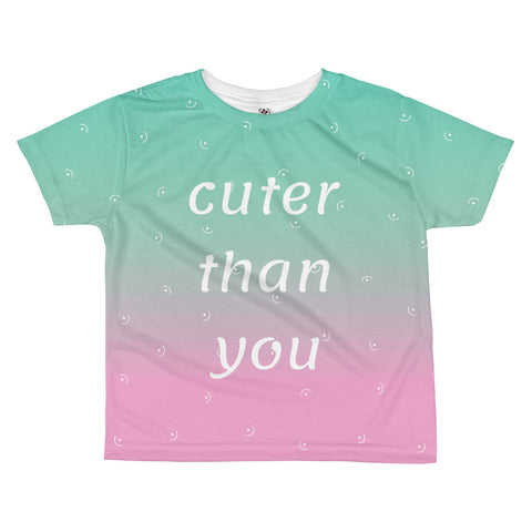 Cuter than You kids sublimation T-shirt