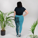 Blue Plus Size Leggings