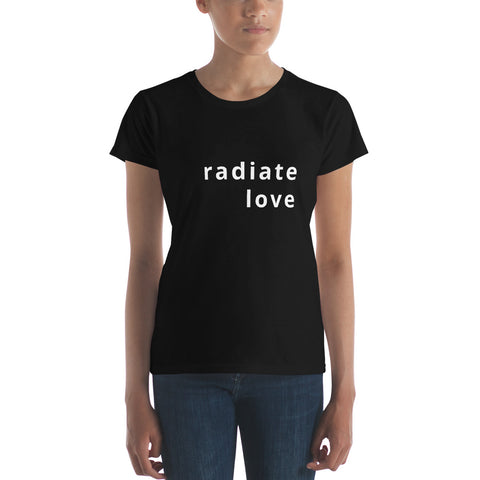 radiate love women's short sleeve t-shirt
