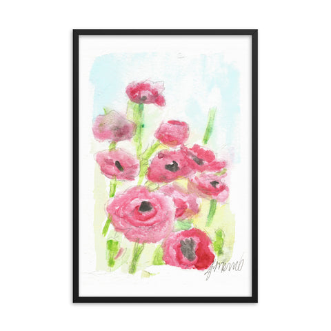 Pink Poppy Dream Framed poster