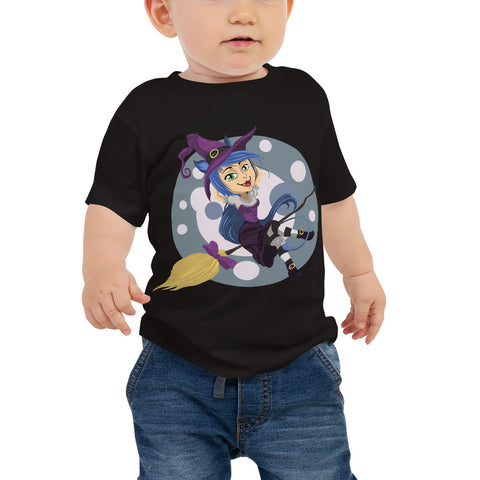 Witch on a broom Baby Jersey Short Sleeve Tee