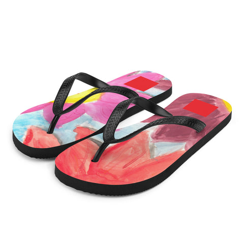 Sea of Flowers Flip-Flops