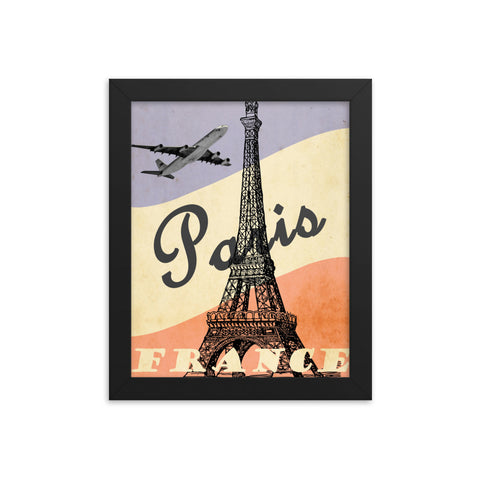 Framed Eiffel Tower poster
