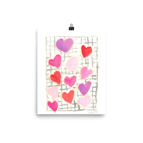 Valentine's Cookies photo paper poster