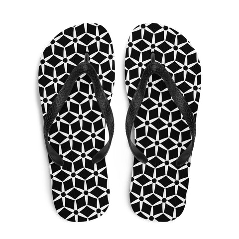 Flower Patterned Flip-Flops