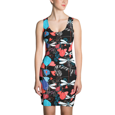 Dragonfly Heart Doodle Dress