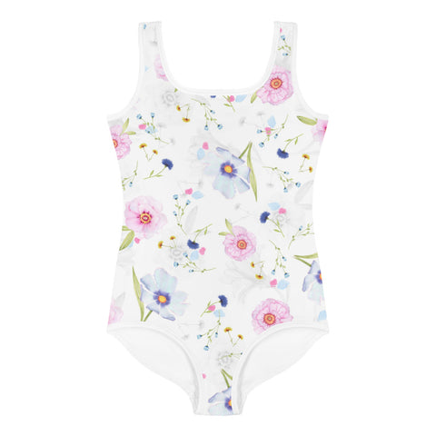All-Over Floral Print Kids Swimsuit