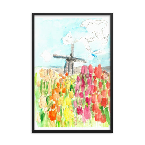 Holland in Spring Framed photo paper poster