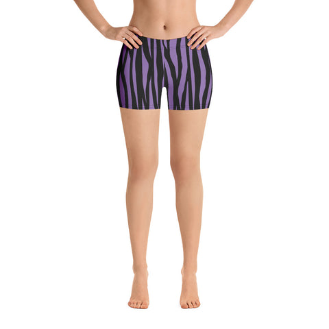 Purple zebra print shorts