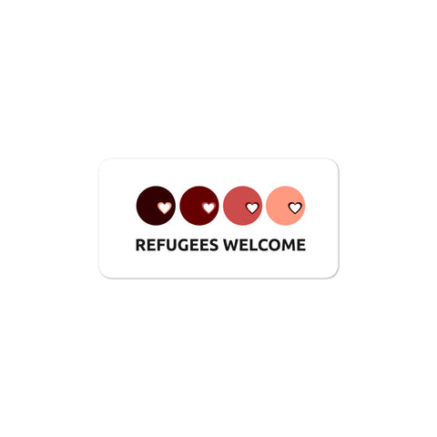 Refugees Welcome bubble-free stickers