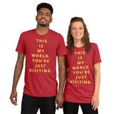 This is my world Short sleeve t-shirt
