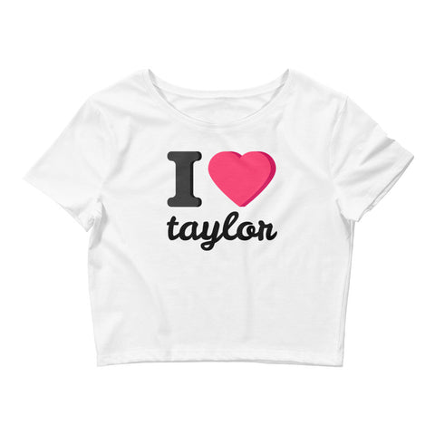 I heart Taylor Women's Crop Tee