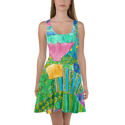 Way Up in the Sky Skater Dress