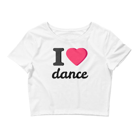I Heart Dance Women's Crop Tee