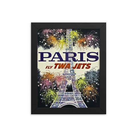 Framed Vintage Paris Travel poster