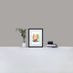 Lick Matte Paper Framed Poster With Mat
