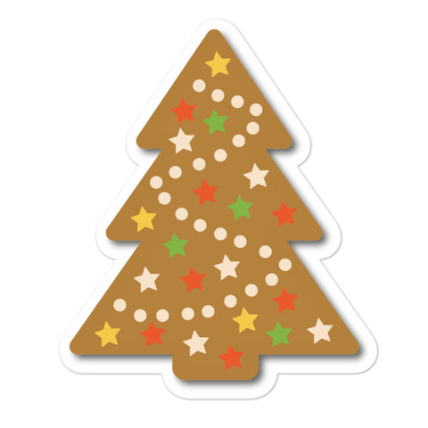 Gingerbread Christmas Tree Bubble-free stickers