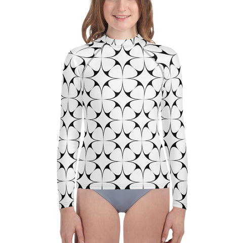 Stars and Clovers Youth Rash Guard