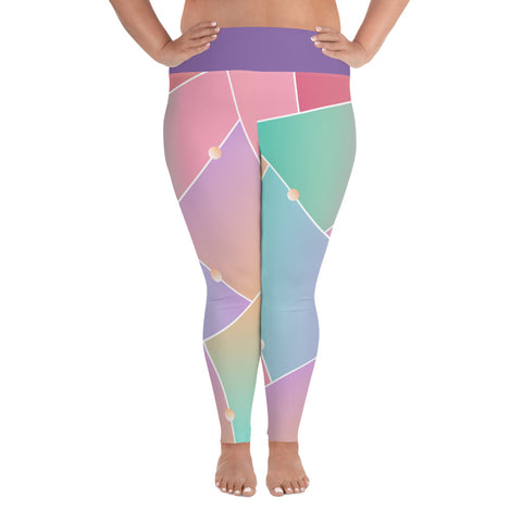 Pastel All-Over Print Plus Size Leggings