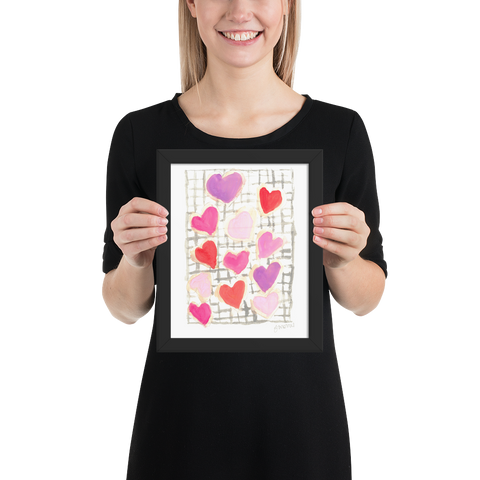 Valentine's Cookies Framed poster