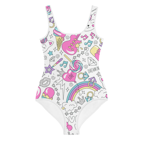 Rockstar Caticorn Youth Swimsuit