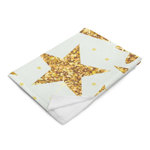 Gold Star Throw Blanket