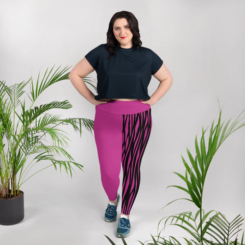 Magenta Plus Size Leggings