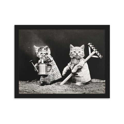 Cats in Clothes framed matte paper poster