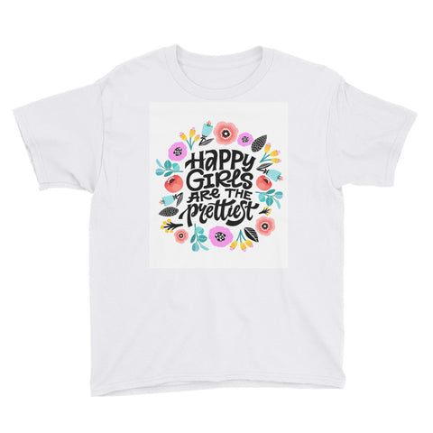 Happy Girls are the Prettiest Youth Short Sleeve T-Shirt