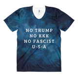 No Trump, No KKK, No Fascist U-S-A Women's sublimation t-shirt