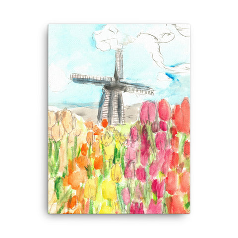 Holland in Spring Canvas