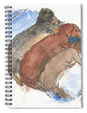 Napping Weenies - Spiral Notebook