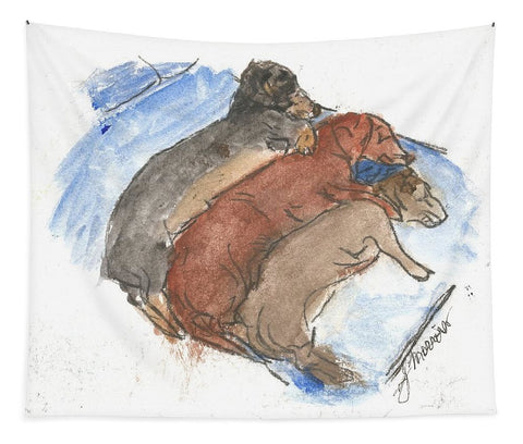 Napping Weenies - Tapestry