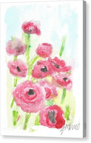 Pink Poppy Dream - Canvas Print