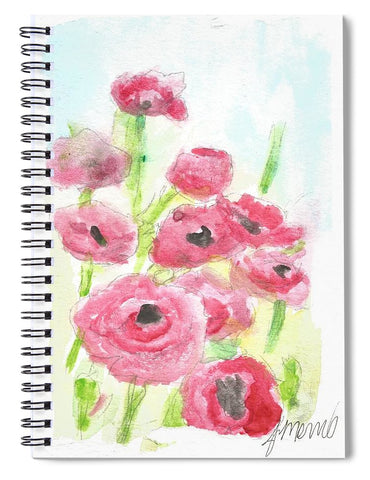 Pink Poppy Dream - Spiral Notebook